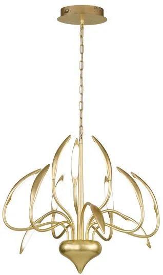 Závesné svietidlo WOFI Závěsné svítidlo Hampton 12x 4,8W LED 345lm 3000K zlatá 5326.12.15.5000