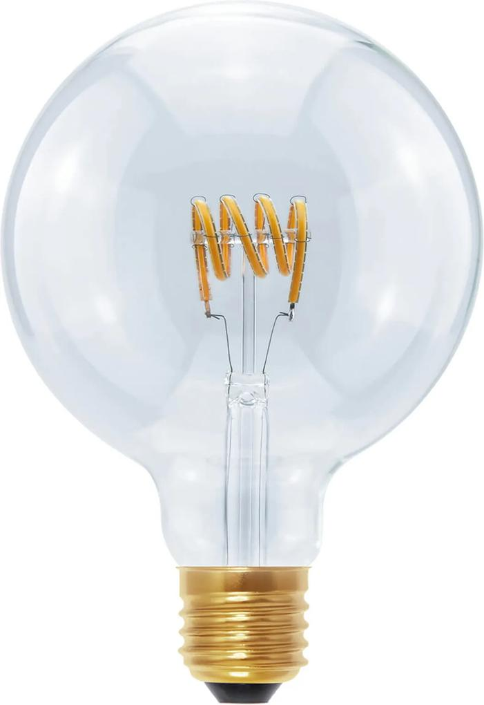 LED Globe G125 Curved Spirale E27 8W teplá biela