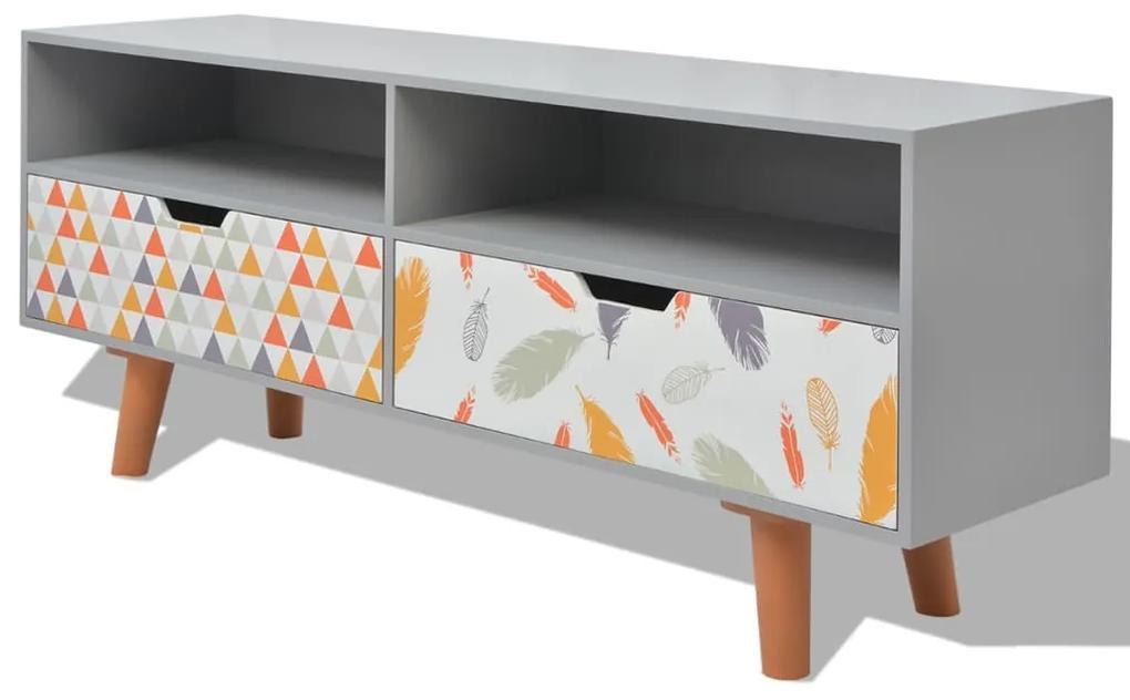 vidaXL TV stolík, MDF, 120x30x50 cm, sivý