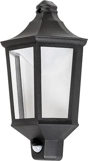 Rábalux 8980 Vonkajšie Nástenné Svietidlá s Čidlom Pohybu Rosewell matný čierny plast LED 8W 500lm 3000K IP44 A