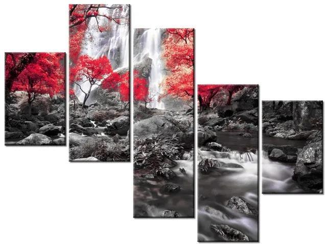 Tlačený obraz Tajomný vodopád 100x75cm 2485A_5K