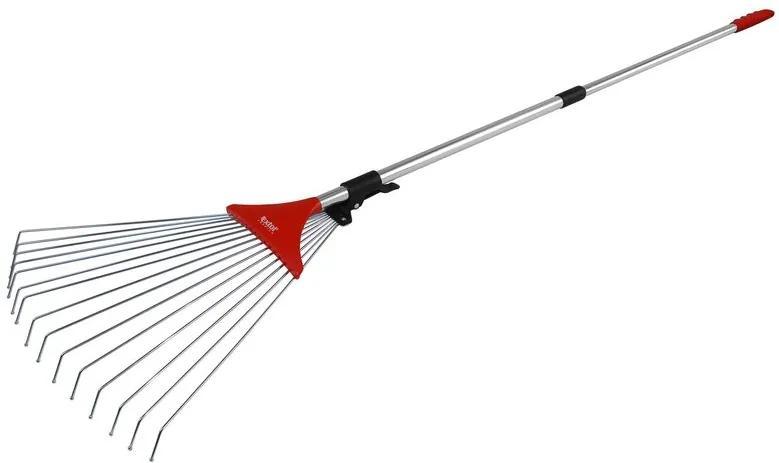 Hrable nastaviteľné s teleskopickou násadou 80-158cm, šírka 18-59cm