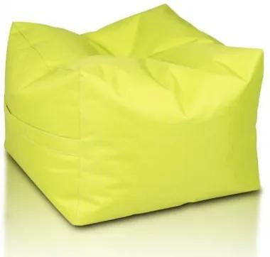 Ecopuf Sedací vak ECOPUF - CUBO - polyester NC1 - Svetlo zelená
