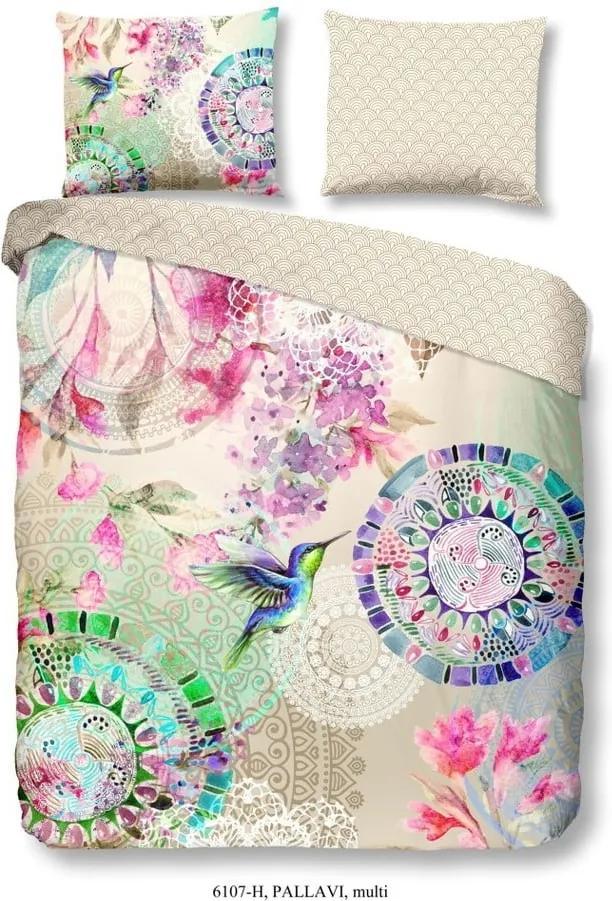 Obliečky na dvojlôžko z bavlneného saténu Muller Textiels Pallavi, 200×200 cm