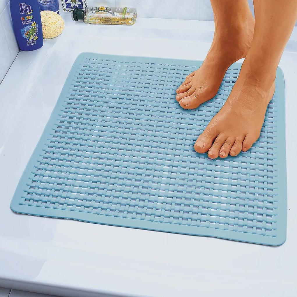 Die moderne Hausfrau Protiskluzová podložka do koupelny, modrá