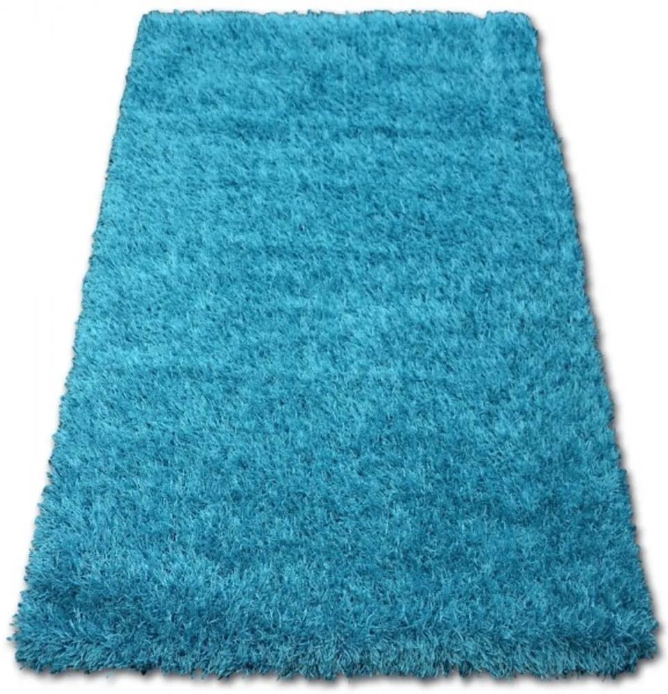 Luxusný kusový koberec Shaggy Lilou tyrkysový, Velikosti 130x190cm