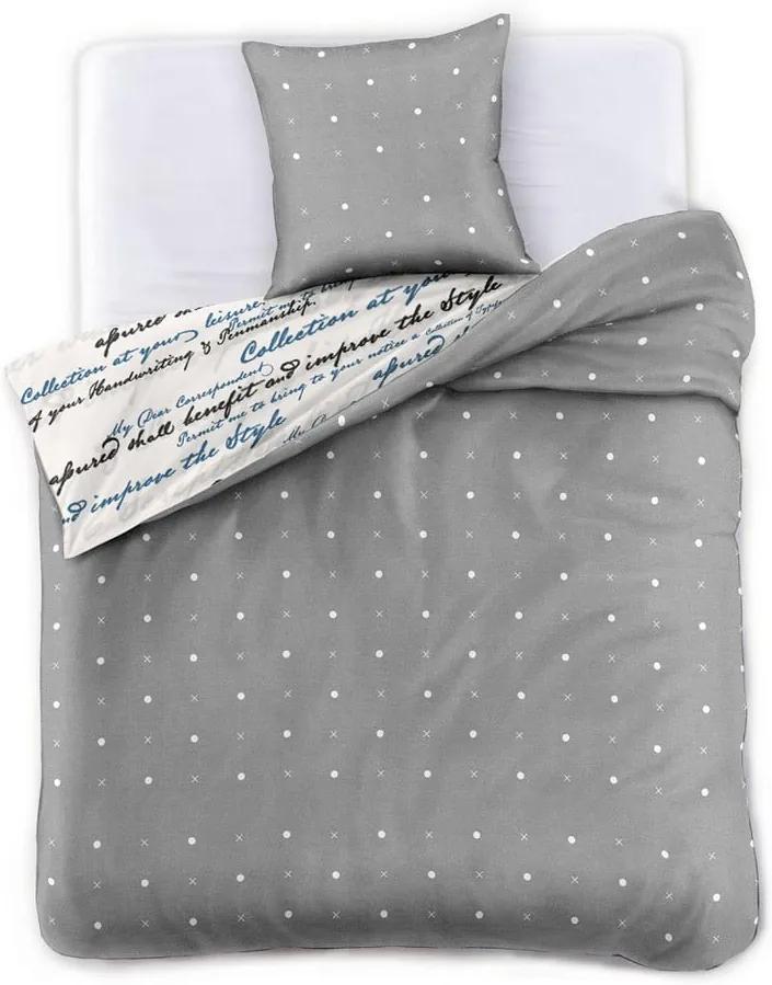 Obliečky na jednolôžko z bavlneného saténu DecoKing Clarity, 135 × 200 cm