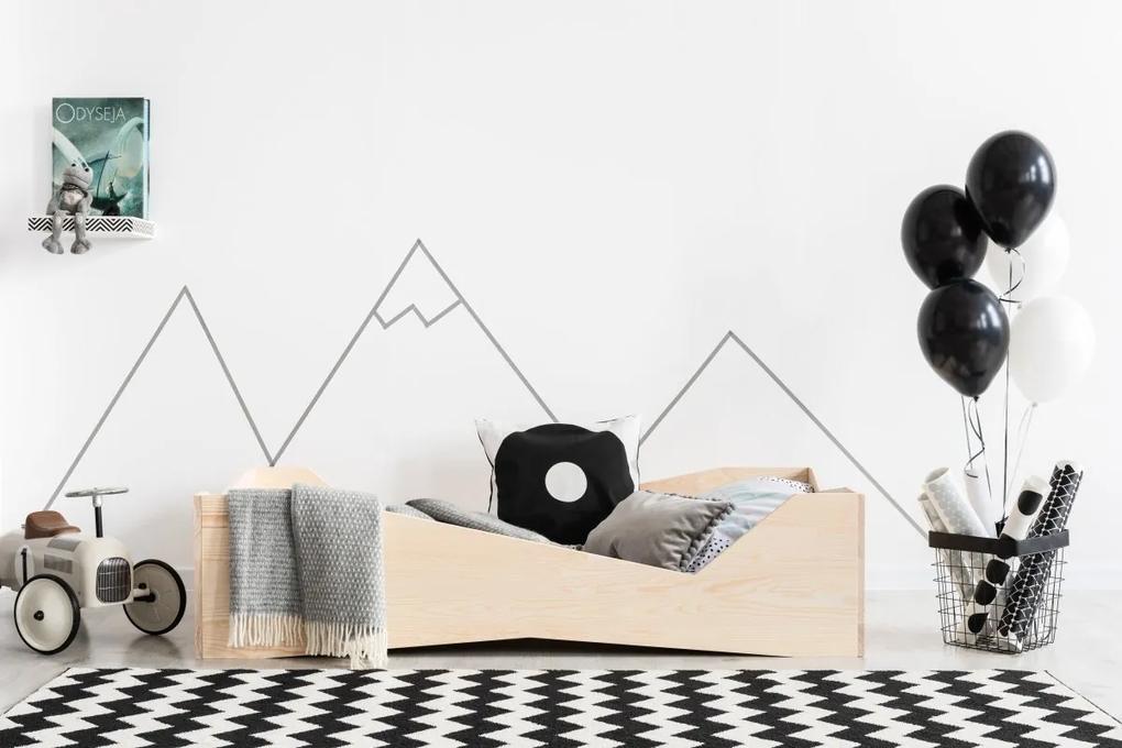 MAXMAX Detská posteľ z masívu BOX model 5 - 200x90 cm 200x90 pre dievča|pre chlapca|pre všetkých NIE