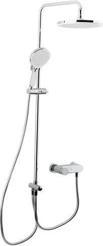 Sprchový systém Swiss Aqua Technologies s pákovou batériou biela/chróm SATBSETSK1