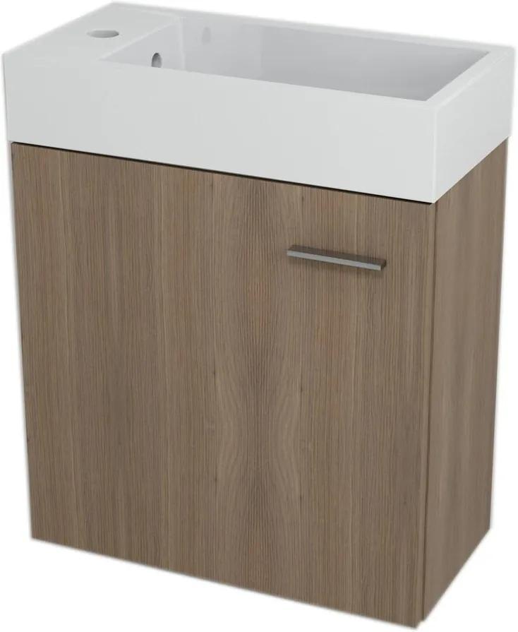 Latus IV 55596 umývadlová skrinka 49,5x50x25 cm, orech bruno