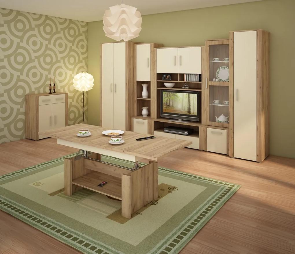 MEBLOCROSS Notti obývacia izba craft zlatý / krémová / craft zlatý