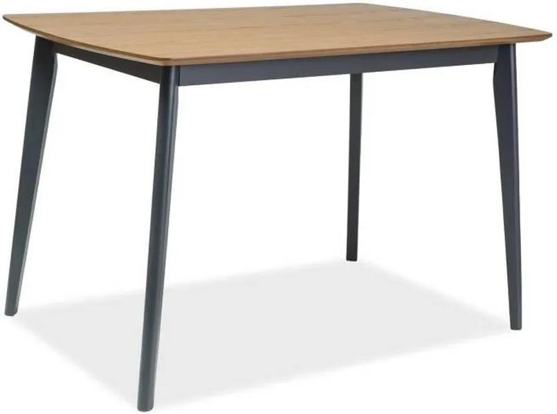 Expedo Jedálenský stôl TROVY, 120x75x75, dub/grafit
