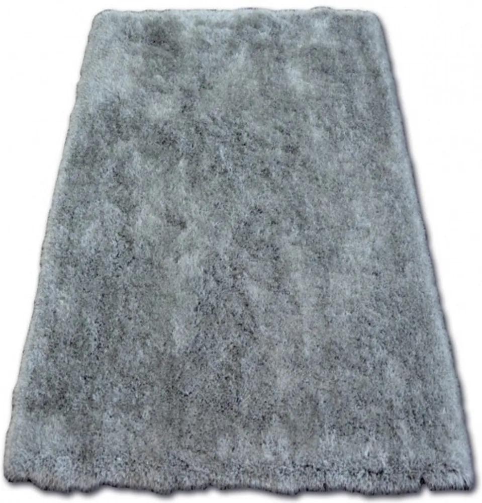 Luxusný kusový koberec Shaggy Macho sivý, Velikosti 80x150cm