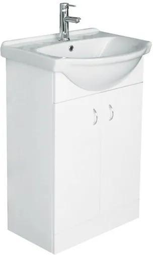 Kúpeľňová skrinka s umývadlom Multi Pro 52x41,2 cm biela PRO50SOKL
