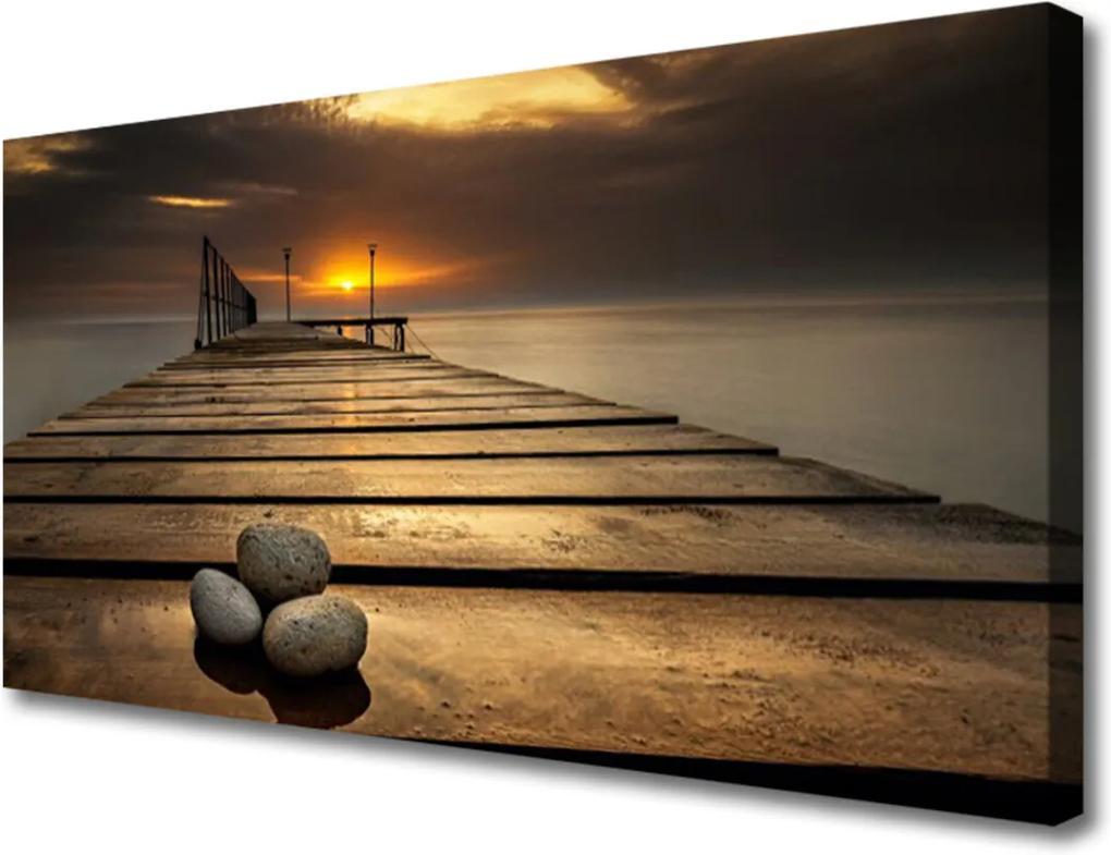 Obraz Canvas More Mólo Západ Slnka
