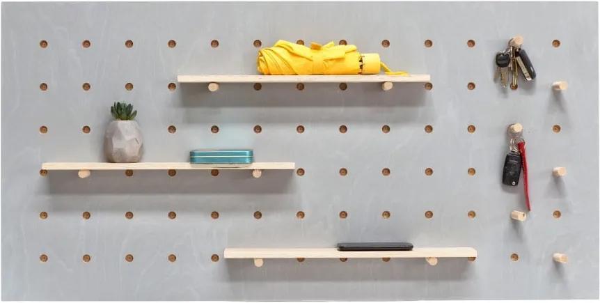 Sivý nástenný organizér Ragaba TRIVENTI, 120 × 60 cm