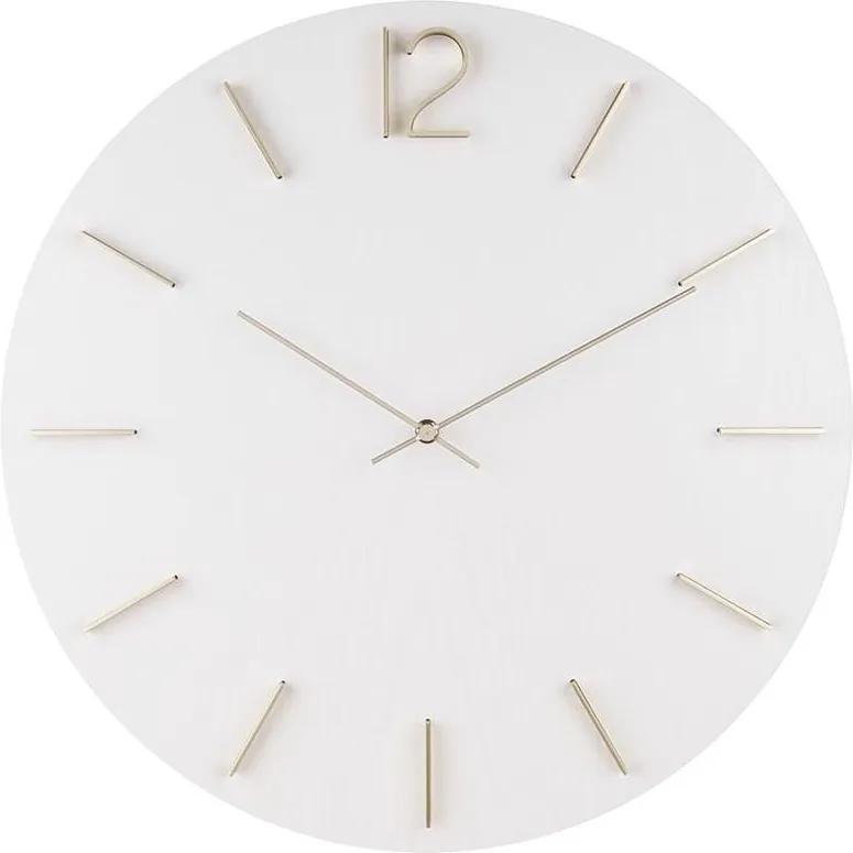 KARLSSON Nástenné biele hodiny Meek MDF
