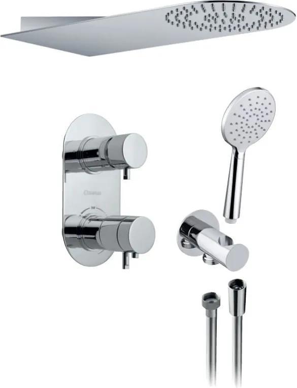 SAPHO - RHAPSODY podomietkový sprchový set s termostatickou batériou, 2 výstupy, chróm (5585T-01)