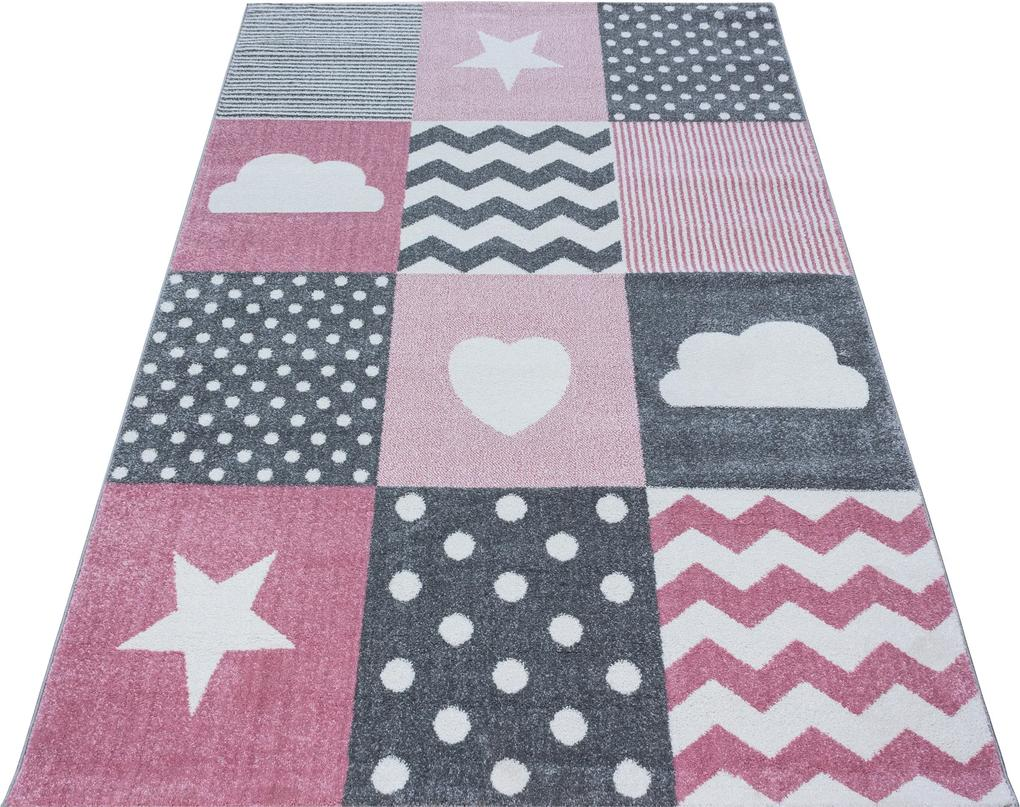 Ayyildiz koberce Kusový koberec Kids 620 pink - 80x150 cm