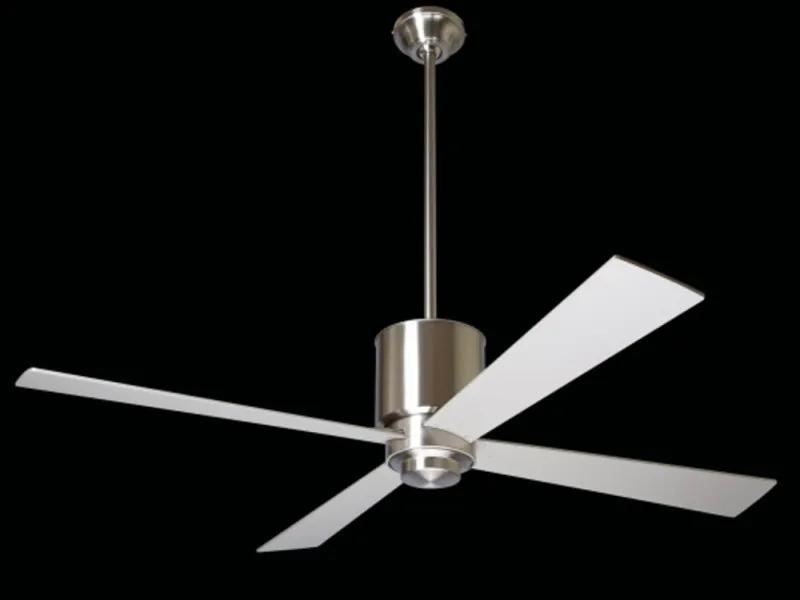 "MODERN FAN EU LAPA LAP-BN42BK550 42"" lesklý nikel/čierna Reverzný stropný ventilátor"