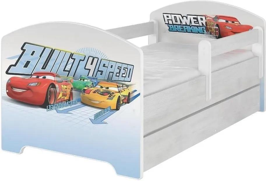 MAXMAX Detská posteľ Disney - CARS 160x80 cm 160x80 pre chlapca ÁNO multicolor