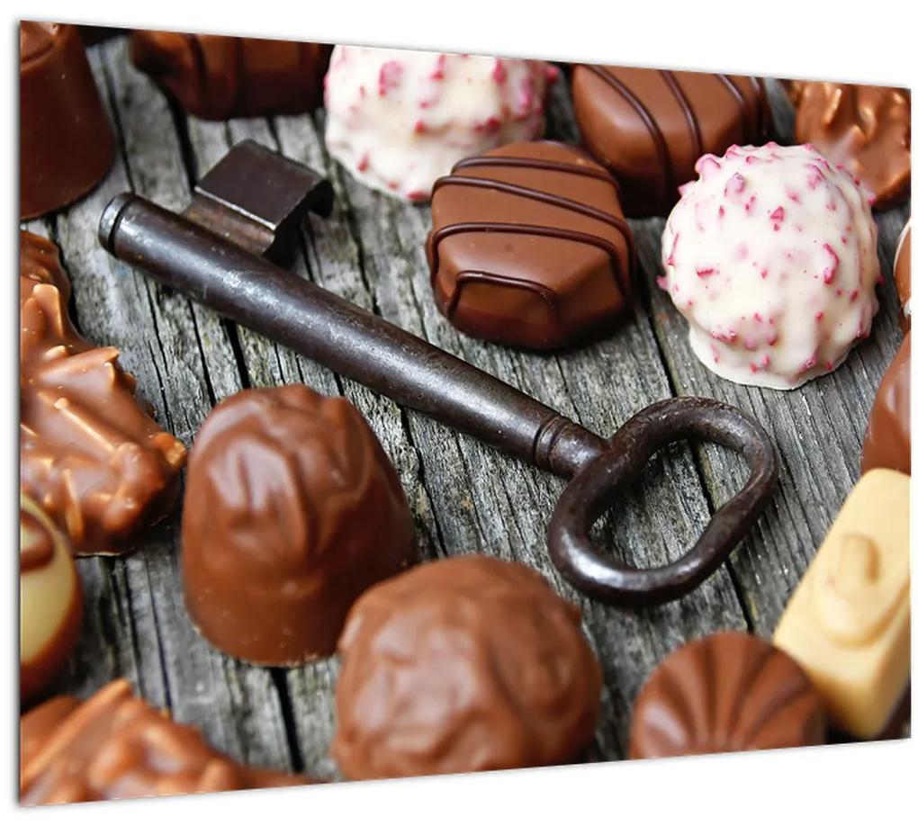 Obraz čokolády a kľúče (70x50 cm), 40 ďalších rozmerov