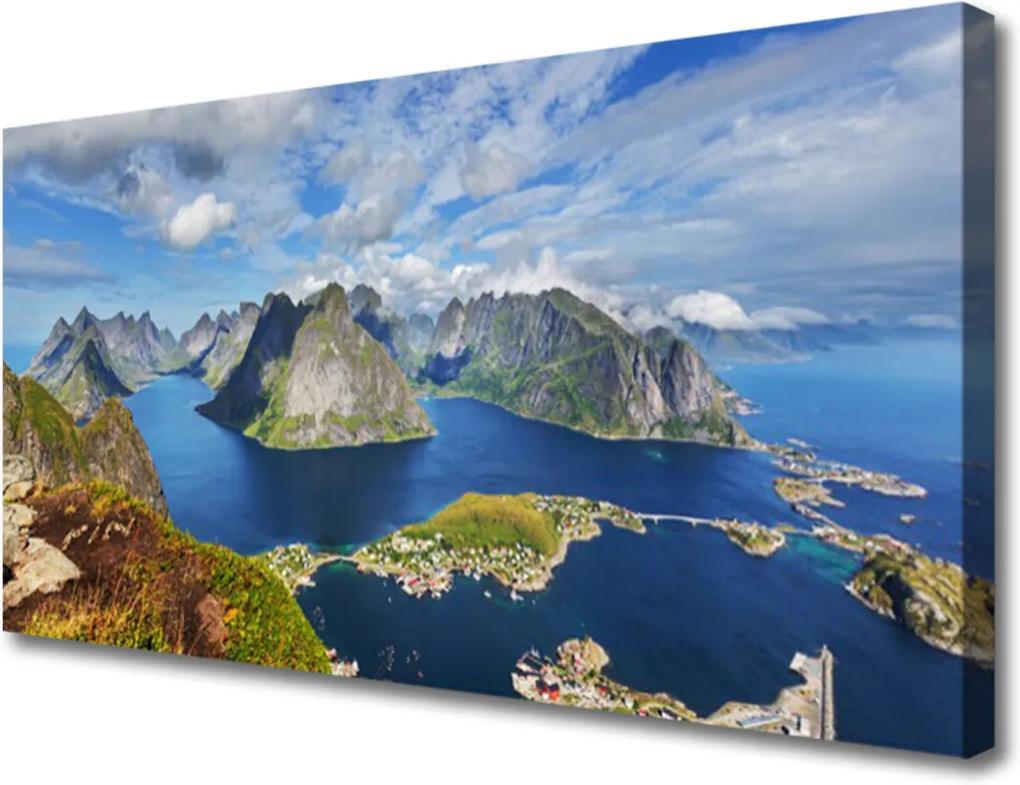 Obraz Canvas Hory moře záliv krajina