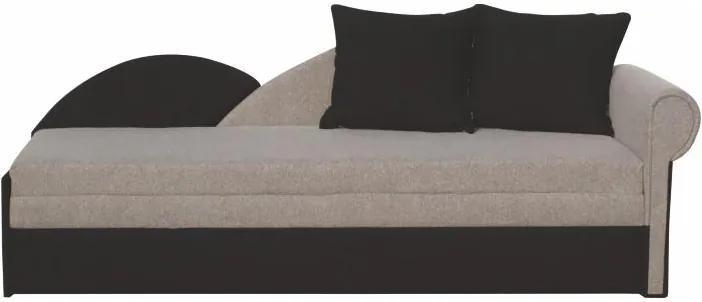 Rozkládací pohovka, šedá / černá, pravá, DIANE 0000062052 Tempo Kondela