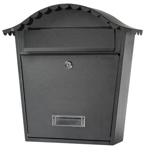 Poštová schránka 65.250 čierna matná, 370 x 360 x hĺbka 135 mm