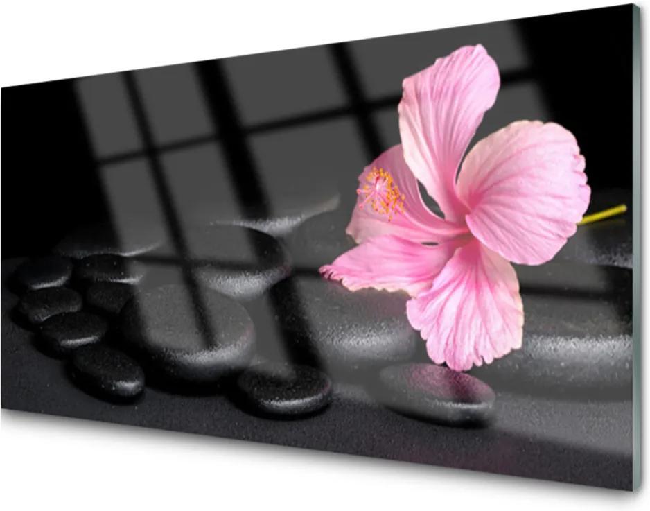 Obraz na skle Kamene Kvet Umenie