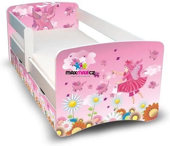 MAXMAX Detská posteľ so zásuvkou 180x90 cm - VÍLA II 180x90 pre dievča ÁNO