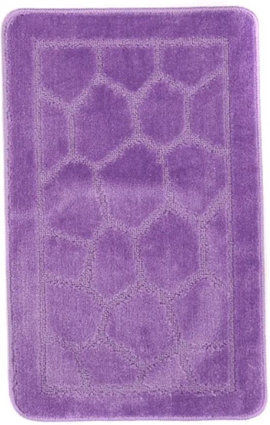 Kúpeľňová predložkay 1147 tmavo fialová, Velikosti 50x80cm