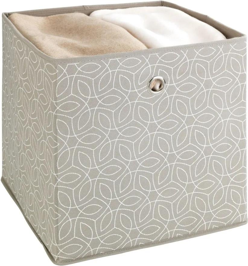 Béžový úložný box Wenko Balance, 32 x 32 cm