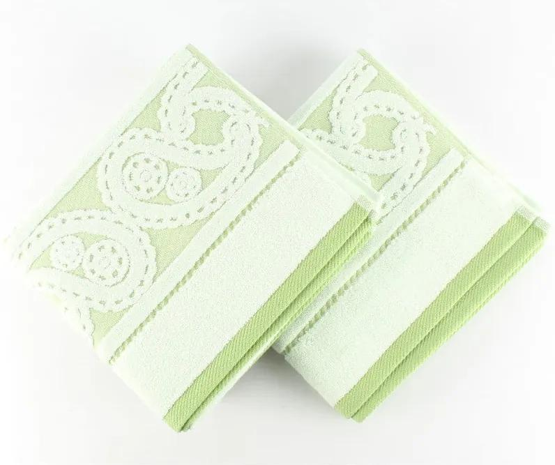 Sada 2 uterákov Hurrem Green, 50x90 cm