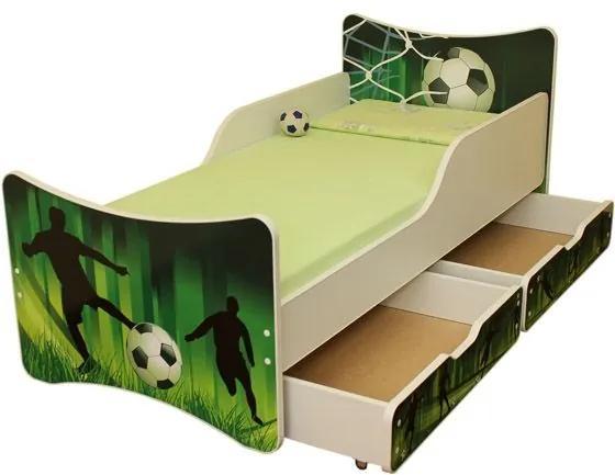 MAXMAX Detská posteľ so zásuvkou 180x90 cm - FUTBAL 180x90 pre chlapca ÁNO
