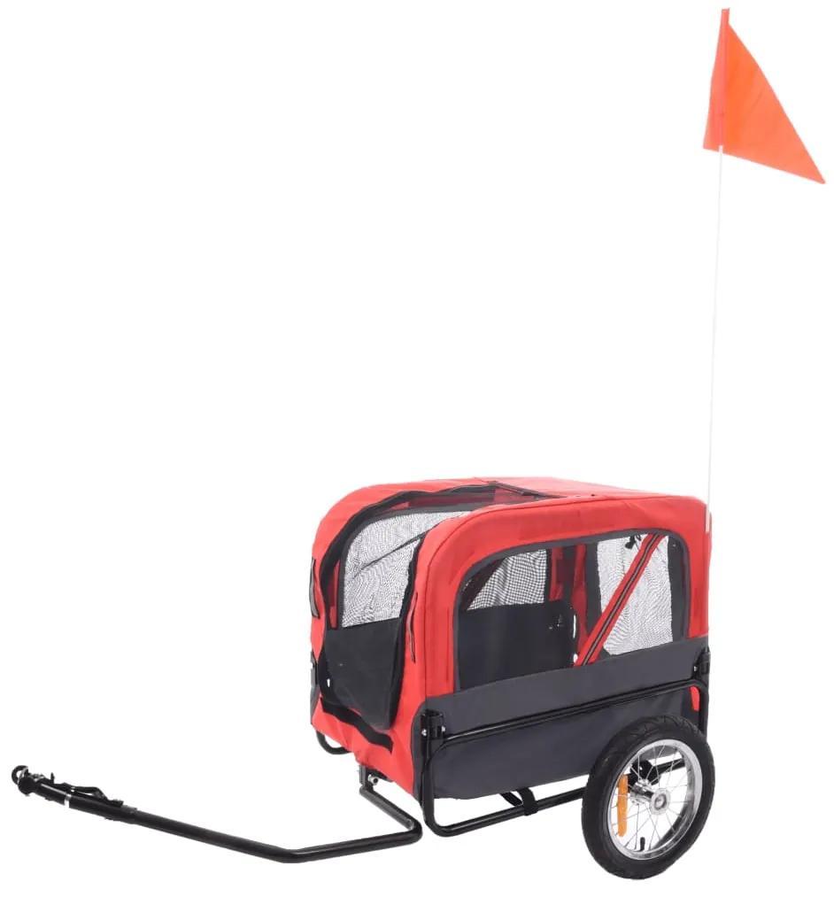 FLAMINGO Vozík na bicykel pre psa Romero červený 59,5x43x51 cm