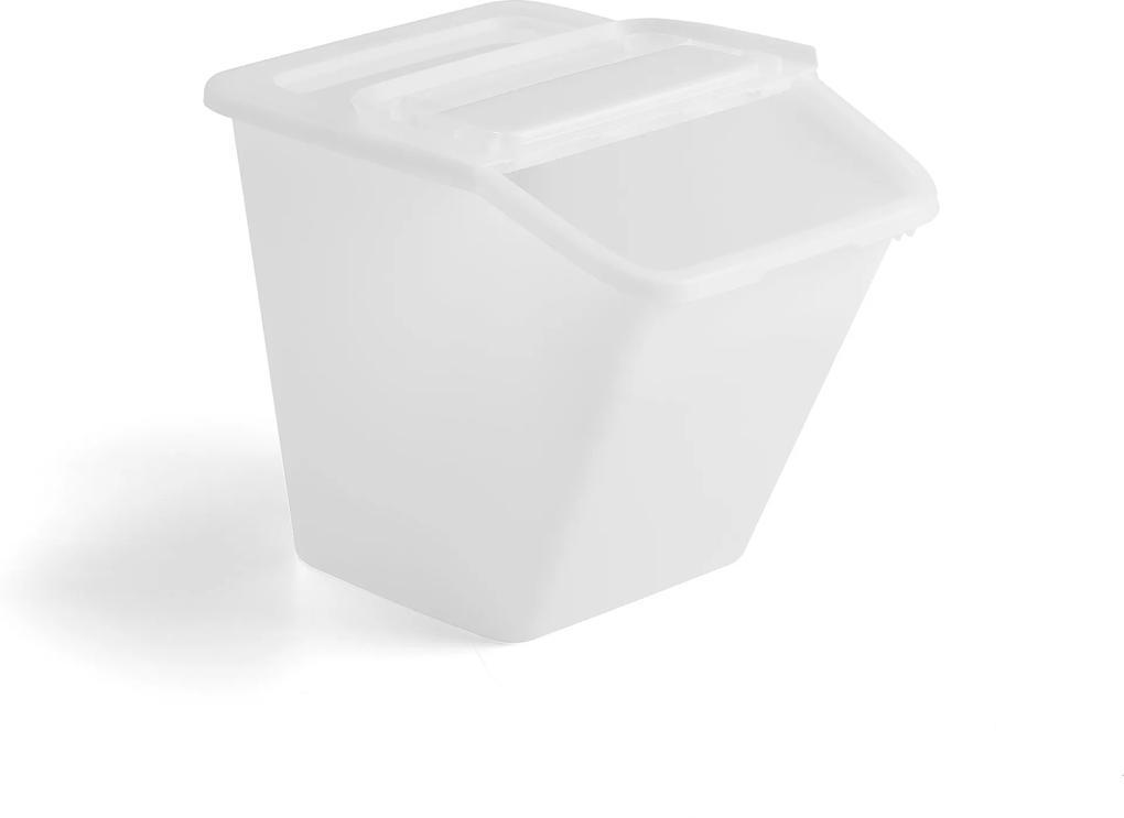 Úložný box, 55 L, biely