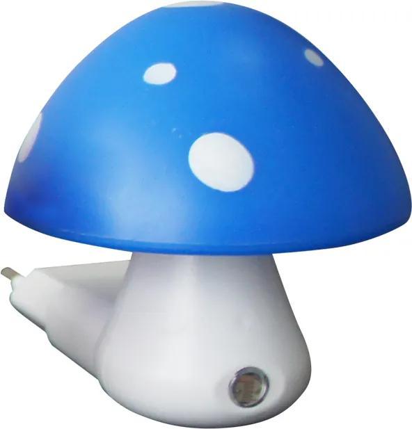 ACA DECOR Detské svietidlo do zásuvky Huba, modrá farba