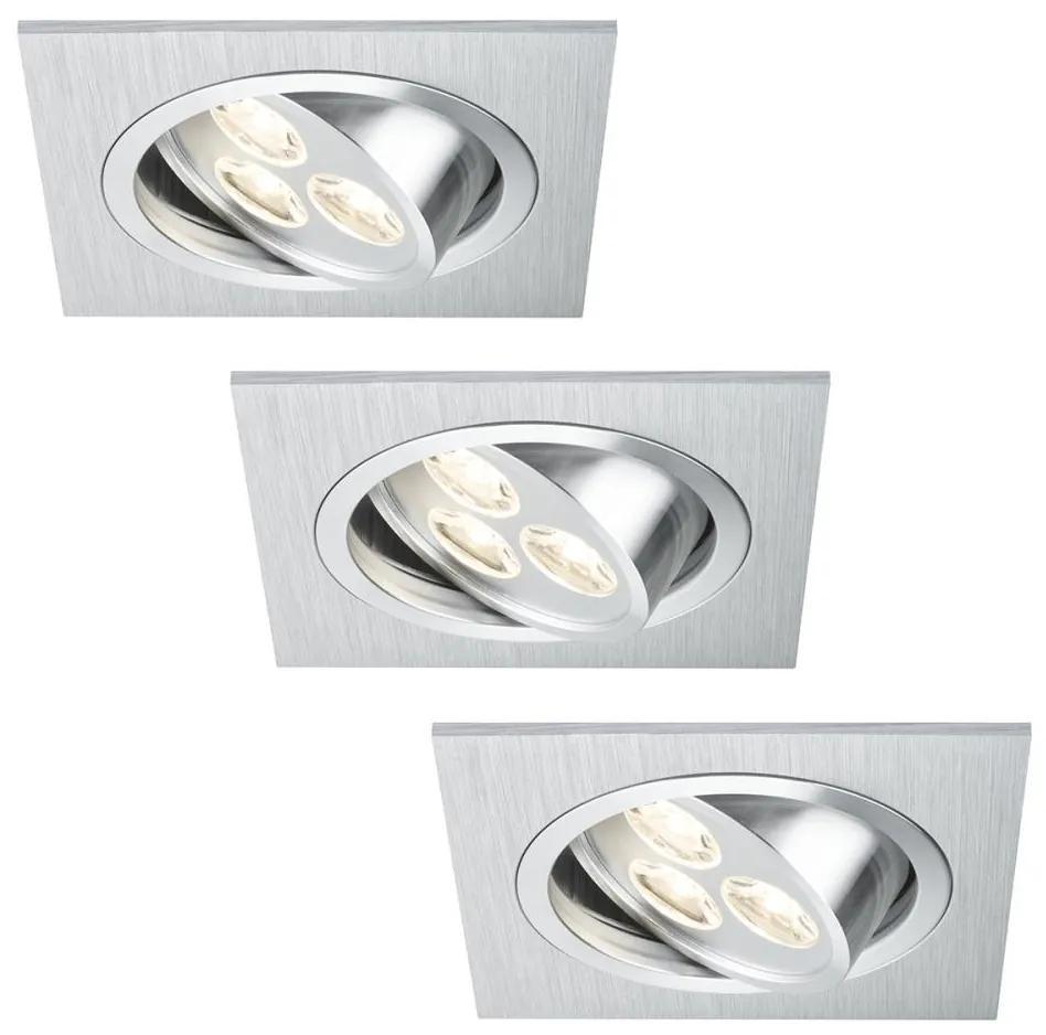 Paulmann Paulmann 92532 - SADA 3x LED podhľadové svietidlo PREMIUM LINE 3xLED/3W/230V BA0104