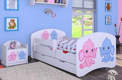 MAXMAX Detská posteľ so zásuvkou 160x80cm Slonica 160x80 pre dievča ÁNO