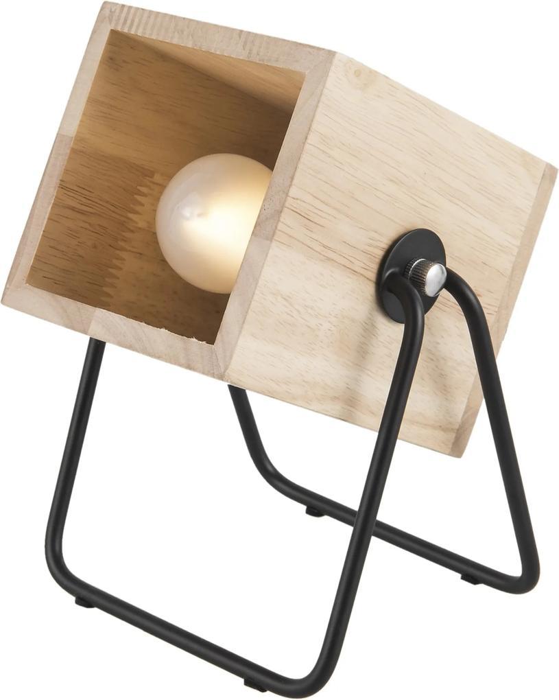 LEITMOTIV Stolná drevená lampa Hefty - zl'ava 20% (VEMZUDNI20)