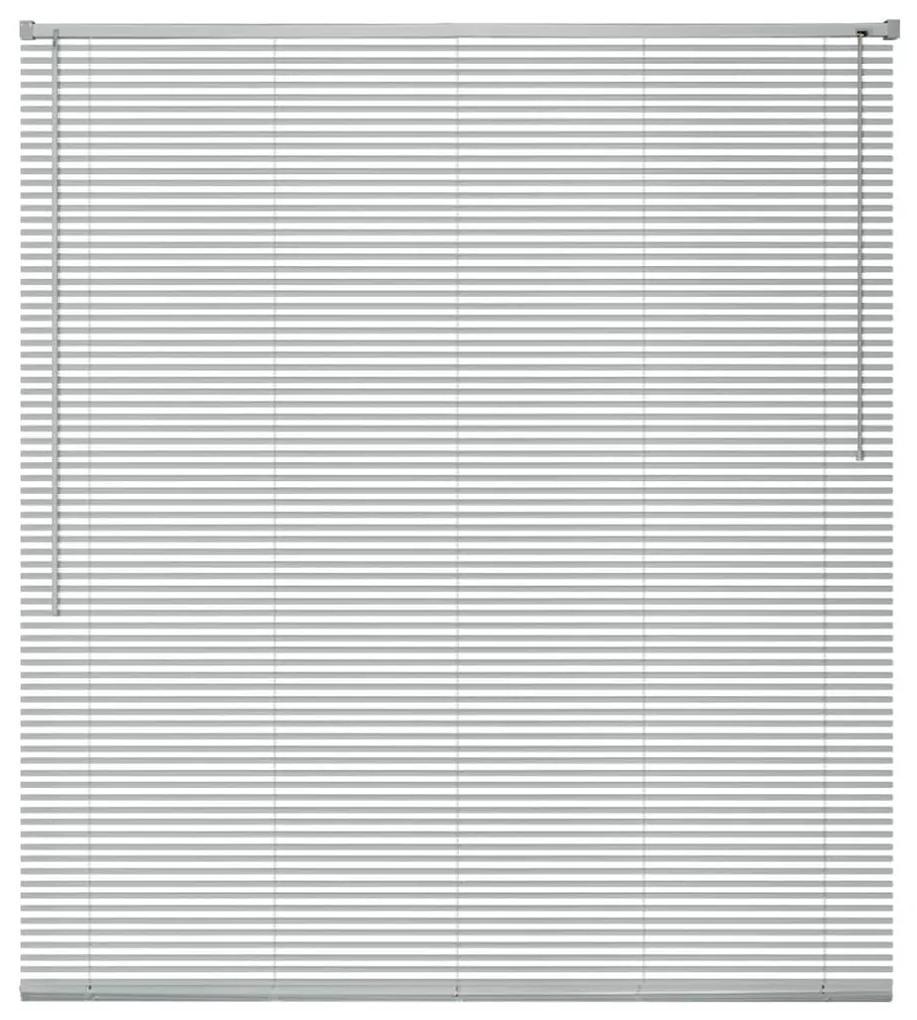 vidaXL Okenné hliníkové žalúzie, 120x160 cm, strieborné