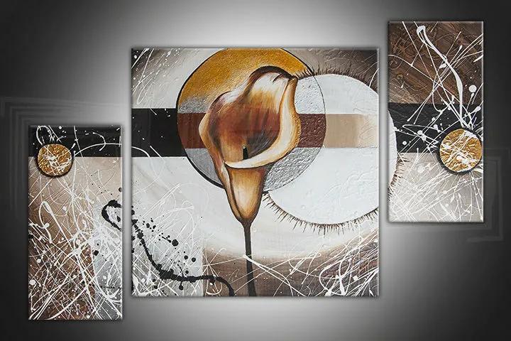 Ručne maľovaný obraz DeLUXE - ABSTRAKT