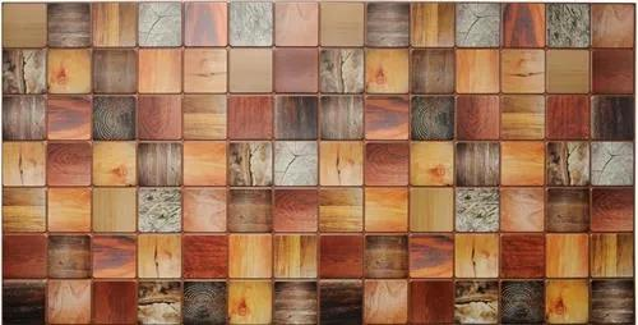 Obkladové 3D PVC panely TP10013962, rozmer 955 x 480 mm, drevený trám morený, GRACE