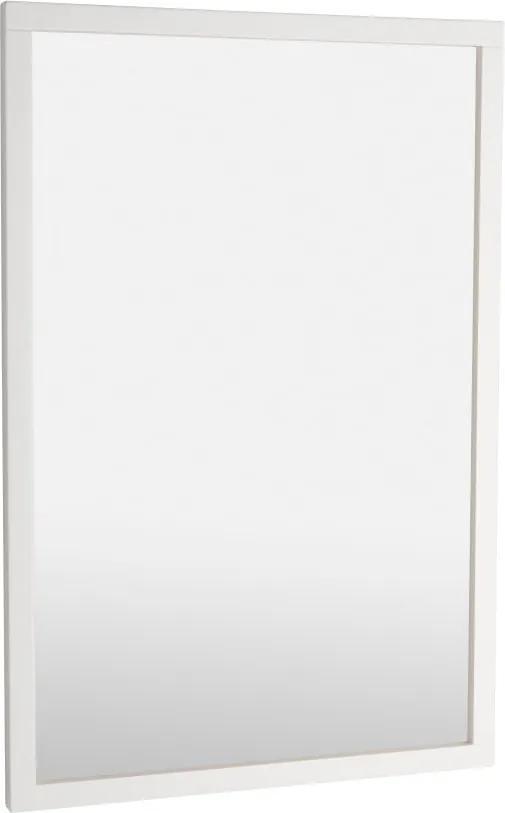Biele dubové zrkadlo Rowico Lodur