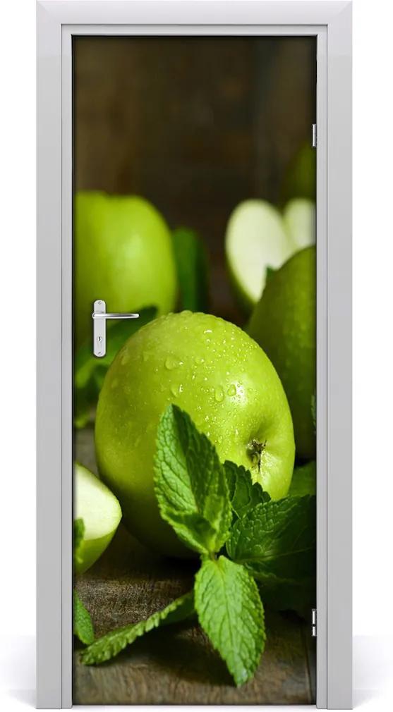 Samolepící fototapeta na dveře Zelená jablka