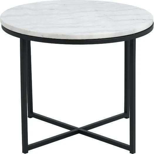 Štýlový konferenčný stolík Aimilios, biela / čierna