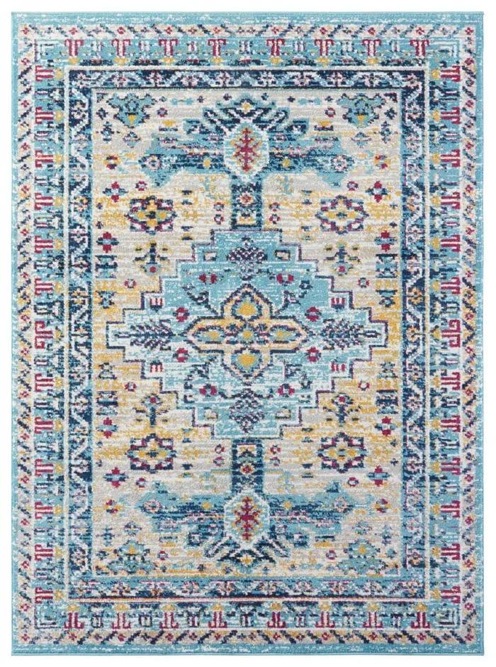 Svetlomodrý koberec Nouristan Agha, 200 x 290 cm