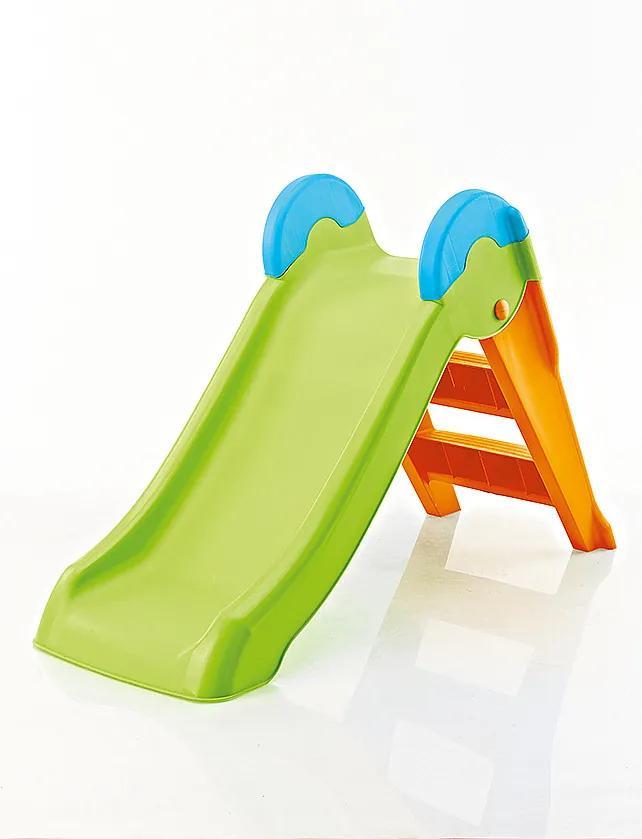 Detská šmýkačka (zeleno-oranžová)
