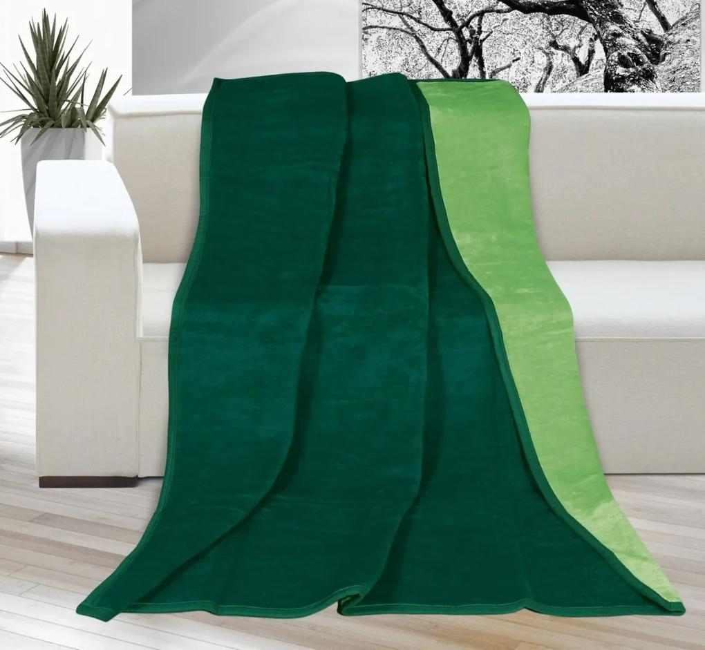 Deka Kira Plus Tmavo zelená, Jednolôžko 150x200 cm
